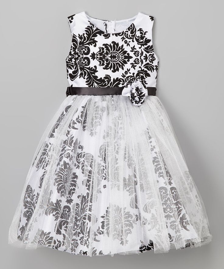 Another great find on #zulily! Kid Fashion Black Damask A-Line Dress - Infant, Toddler & Girls by Kid Fashion #zulilyfinds