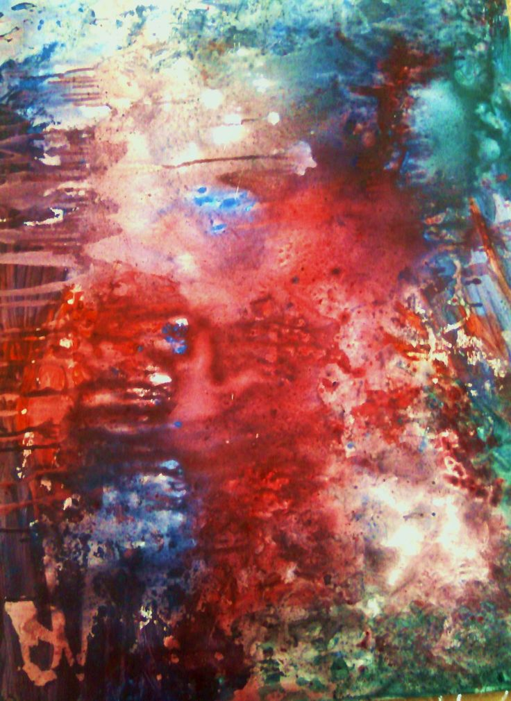 Abstaract art. Acrylic painting by EC