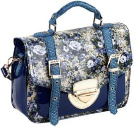 Nicole Lee USA Florence Floral Patent Satchel US/CAN 12/16