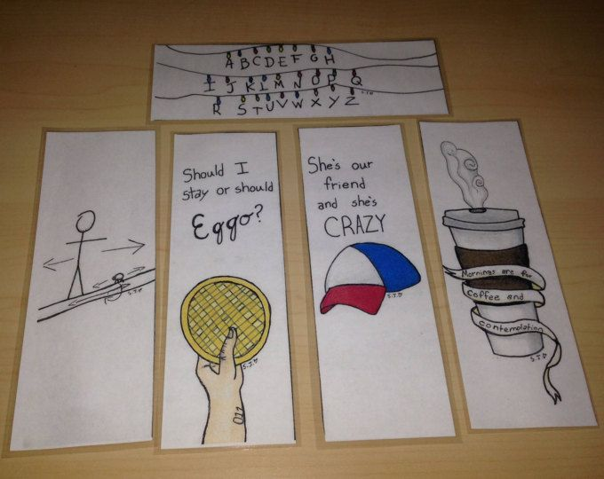 Stranger Things Bookmarks being sold by SJHsketches on Etsy (click on picture to go straight to site)