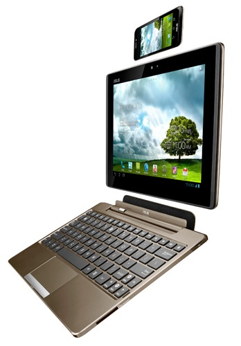 asus debuts its 3-in-1 smartphone, tablet and netbook.