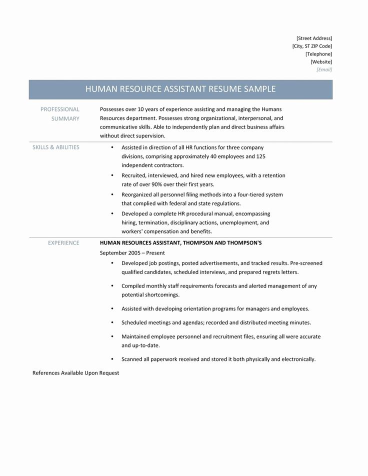 Human Resource Manager Resume Elegant Human Resources Manager Resume Samples Tips And Templates
