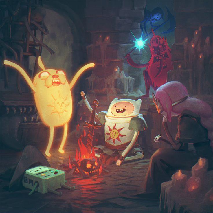 at art,adventure time,время приключений,фэндомы,Dark Souls,Finn,Финн - парнишка, Финн, Финн парнишка,Princess Bubblegum,Бубльгум - Принцесса конфетного королевства, бубльгум, принцесса бубльгум,Jake,Джейк - Пес, джейк,Ice King,ледяной король,at crossover,at кроссовер,BMO,бимо,Solaire of Astora,DS