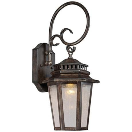 Wickford bay 19 1 2 high led outdoor wall light 170 at lamps