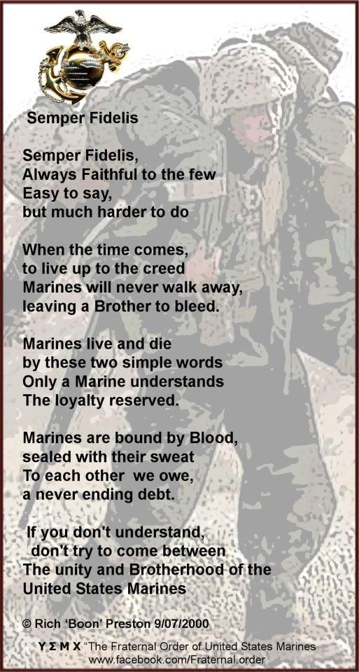 MARINES always there when you need them