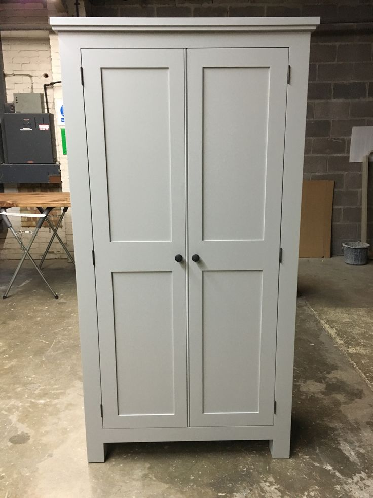 Another Shaker Kitchen Larder cupboard bespoke and made to order. Cobwebs Furniture Company.