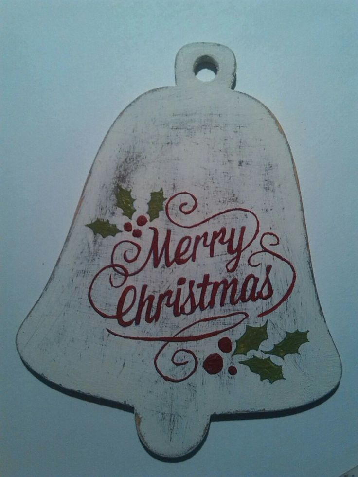 Merry Christmas wooden bell