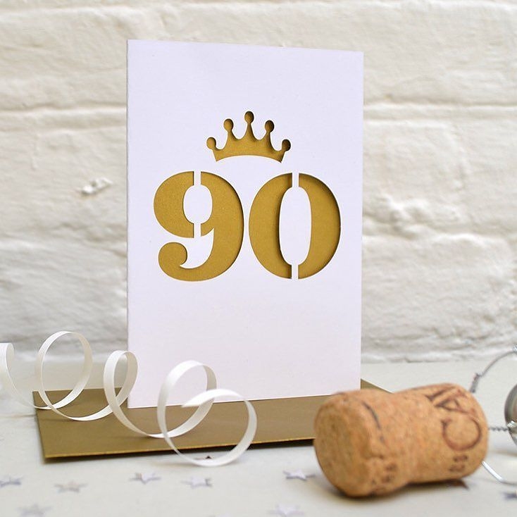 "Thanks for the kind words Heather!  ""Lovely well made item!"" Heather B. #etsy #papergoods #agecard #birthdaycard #kyleighspapercuts #adultagecard #ninetiethbirthday #golden #gold #metalliccard http://etsy.me/2hp0SAT"