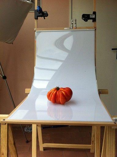 DIY folding table for food photos