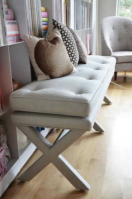 The Pretty Little X Bench At Chairloom Posted On AphroChic Blog
