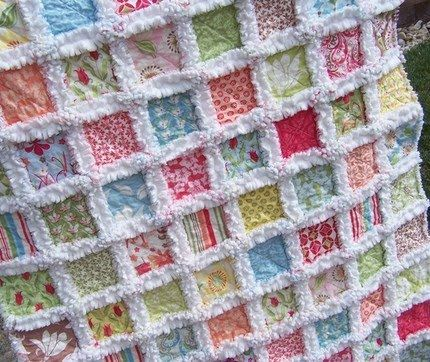 292 best Rag Quilts images on Pinterest | American girls, Cast on ... : patchwork rag quilt - Adamdwight.com