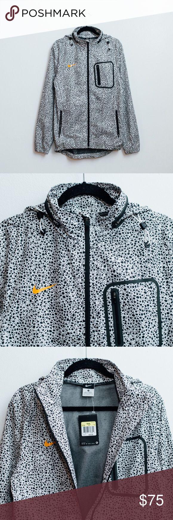 BNWT MENS NIKE MERCURIAL SAFARI JACKET Brand new with tags Nike Mercurial Safari jacket. White with black safari print and an orange swoosh. Offers considered, please no trades. Nike Jackets & Coats Windbreakers