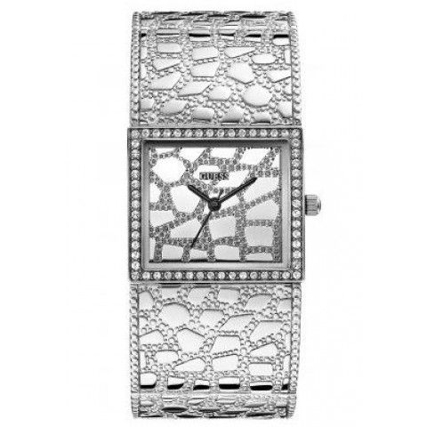 Guess Croco Luxe Silver Ladies Watch