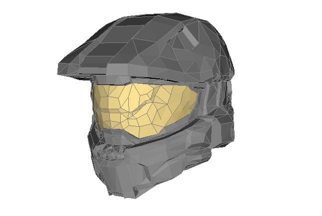 Halo - Master Chief Helmet Ver.3 Free Papercraft Download - http://www.papercraftsquare.com/halo-master-chief-helmet-ver-3-free-papercraft-download.html#Halo, #Helmet, #MasterChief
