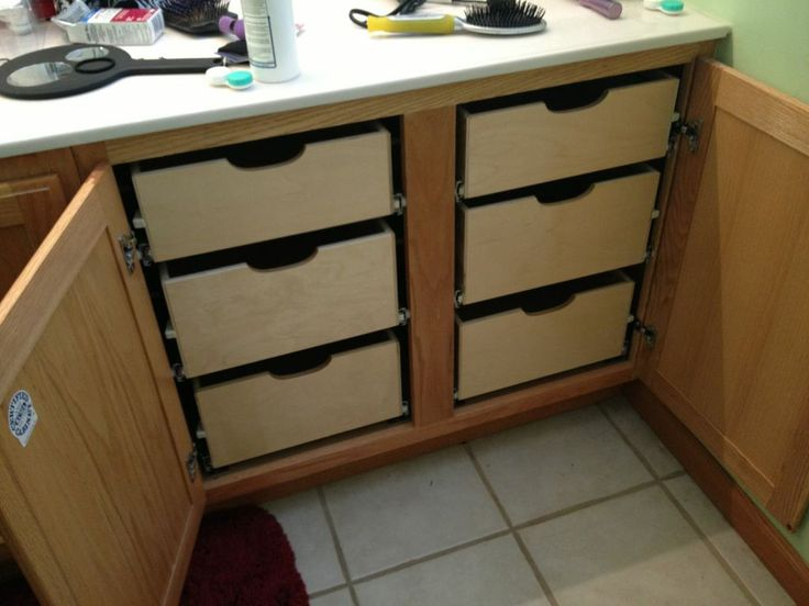 Bathroom Storage Cabinets With Pull Out Shelves Drawer And Wood Cabinet  Doors As Well As Slide Out Kitchen Cabinet Shelves Plus Sliding Drawer  Cabinet, ...
