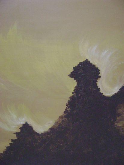 De wind langs de tempels op de berg.