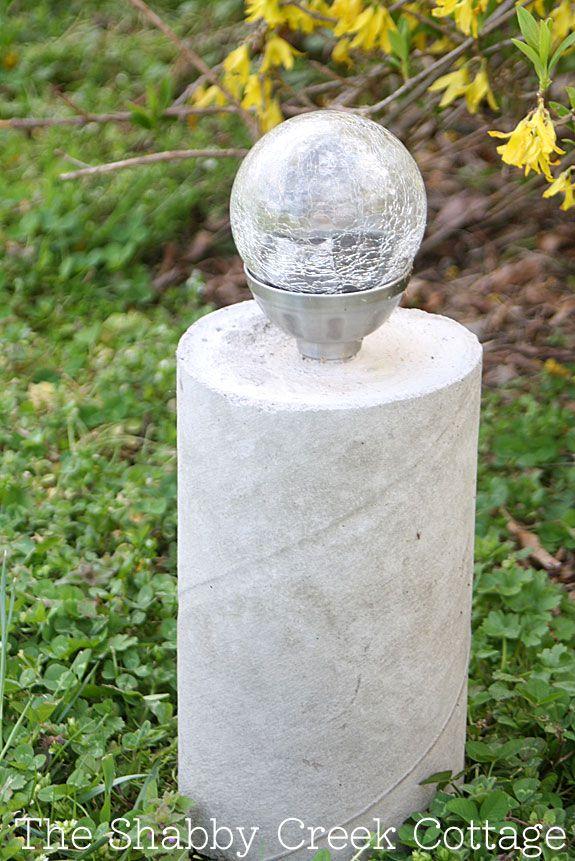 Best 25 cheap solar lights ideas on pinterest patio - Concrete projects for the garden ...