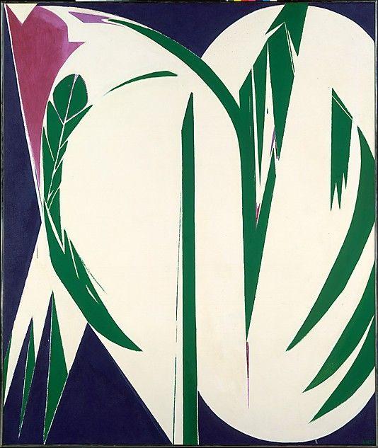 Rising Green / Lee Krasner/ 1972 / Oil on canvas / at the Met