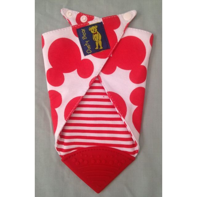 Bandana teething bibs are fully reversible, and have BPA free food grade silicone tip to sooth Baby's gums,100% Cotton and washable.