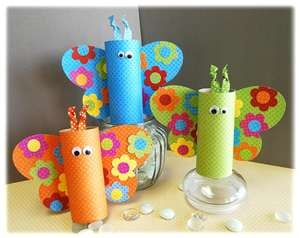 Super cute toilet paper roll butterflies =)Crafts Ideas, Toilet Paper Rolls, Toilets Paper Rolls, For Kids, Kids Crafts, Cardboard Tube, Kidscrafts, Spring Crafts, Paper Butterflies