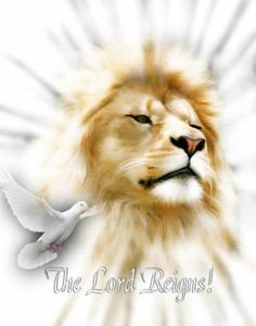 Beautiful art work merging concepts of God as the Lion of Judah (Revelation 5), Jesus the Light of the World, & dove representing Holy Spirit. THE LORD REIGNS! Whether some people- & nations- like it or not, Jehovah YHWH will in His Time do anything He the Creator of all things & people wants for JUSTICE, Holiness, Peace. #DdO:) - https://www.pinterest.com/DianaDeeOsborne/power-beyond-us/ - POWER BEYOND US to control! Thank God: HE is far more loving & kind than any person ever. CREDIT…