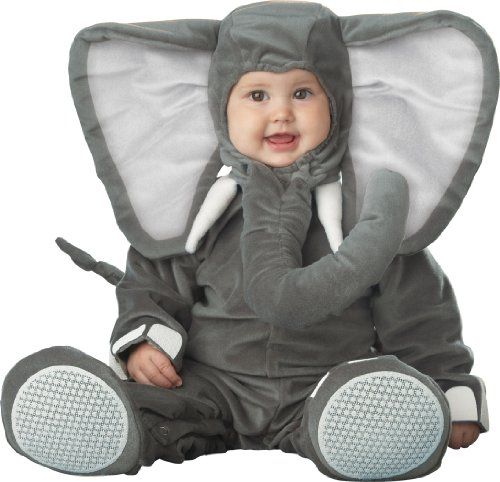 Cute Elephant Halloween Costumes for Babies and Toddlers. Unisex costumes as well as pink and blue elephant costumes for girls and boys.