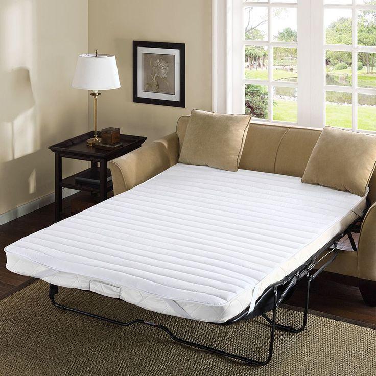 Madison Park Essentials Waterproof Microfiber Sofa Bed Mattress Pad, White