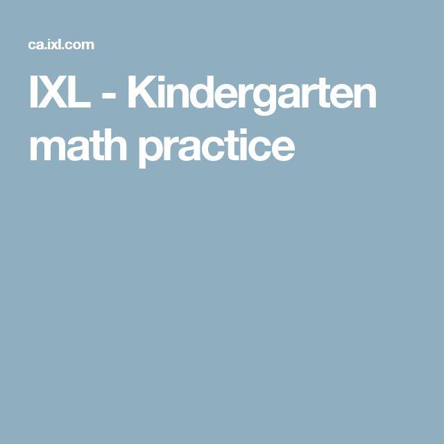 IXL - Kindergarten math practice
