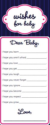 Baby Shower Ideas- this would be good to do for a child on their birthdays and keep them as a memory book