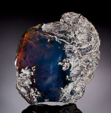 """Rare Blue Amber - wiki: """"Blue amber is amber exhibiting a rare coloration. It is most commonly found in the amber mines in the mountain ranges around Santiago, Dominican Republic, reportedly only from Palo Quemado mine. Although little known due to its rarity, it has been around since the discovery of Dominican amber."""""""