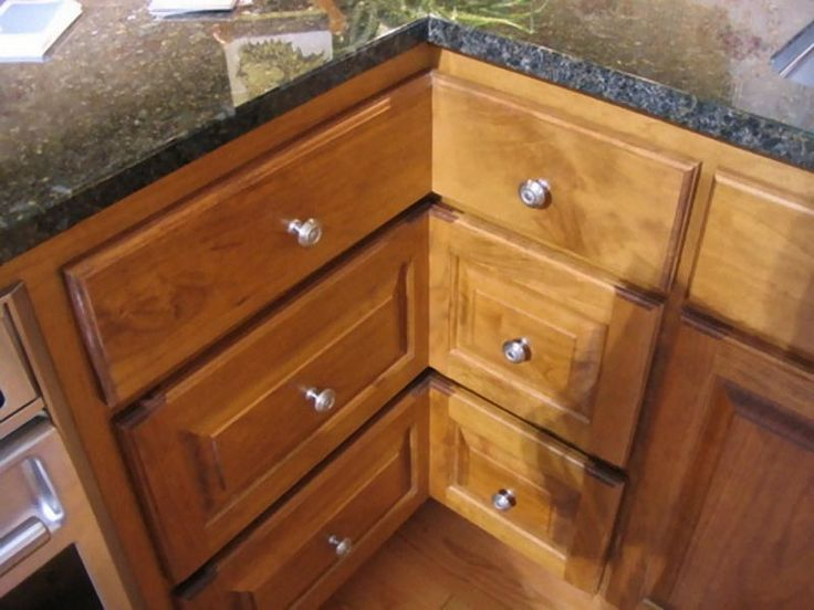 1000 Images About Corner Kitchen Cabinet On Pinterest