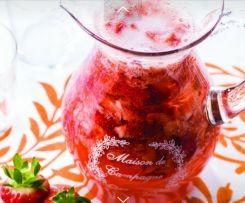 Sangria de Champanhe e Morango