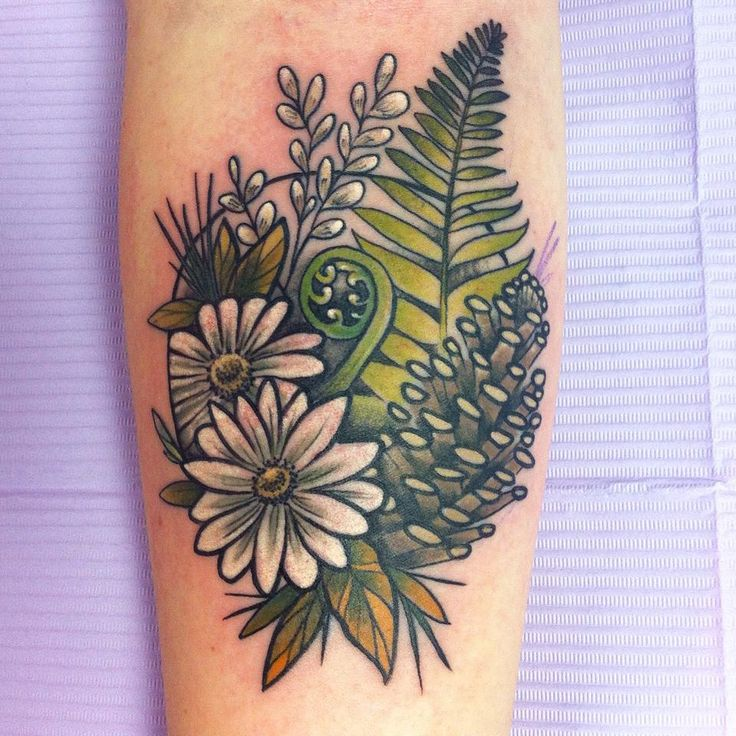 fern pine cone tattoo - Google Search