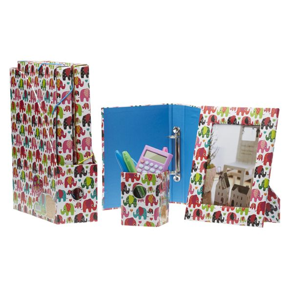 This elephant stationery set features: binder, pencil holder, picture frame, folders and file organiser! The set only costs an amazing price of $16.80