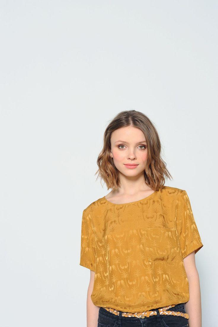 Tee shirt sidoma ocre - t-shirt - des petits hauts 1