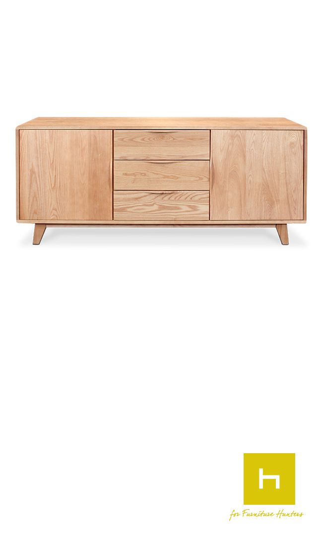 The Arco Buffet is designed and manufactured in New Zealand.  Crafted from solid American White Ash and finished in a durable lacquer to give years of functional beauty. White Ash is a beautifully grained hardwood that is grown on the East Coast of the United States. Appreciated for its density stability and attractive grain, White Ash is ideal for furniture construction and suited to both classic and contemporary styles. #buffet #nzmade #furniturehunters