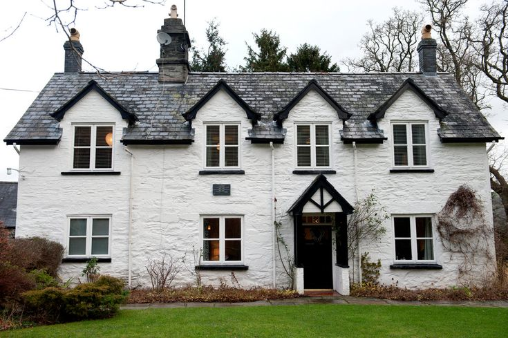 A Stone Farmhouse With Cottages in the Welsh Countryside -