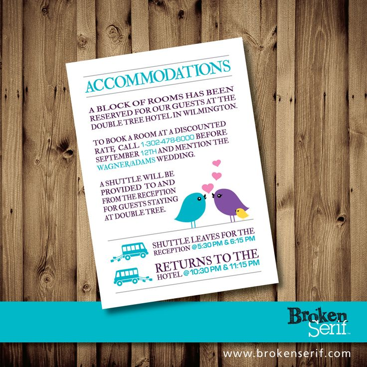 Wedding Accommodations Insert 7 best Wedding Multi