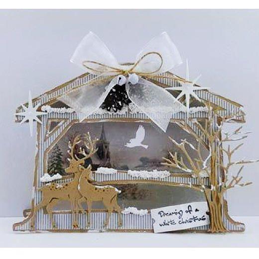 Dutch Doobadoo Card Art Template - Crib (Nativity Stable) #713612
