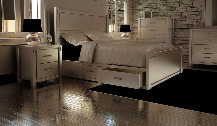 Modern furniture bedroom. Chamber à coucher mobilier moderne blanc.