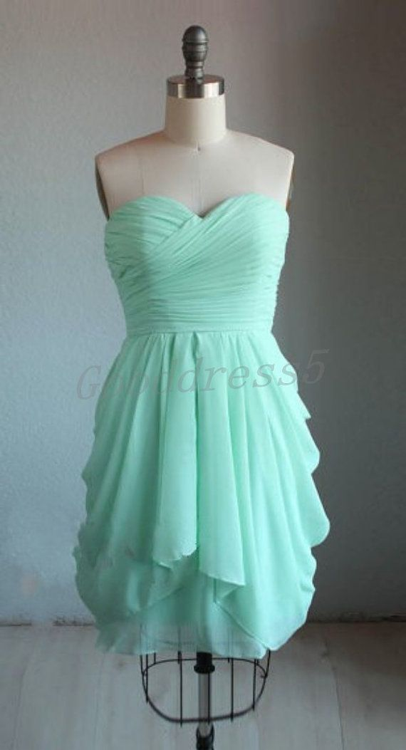 Mint Sweetheart Short Special Occasion Dress Bridesmaid Dress ...