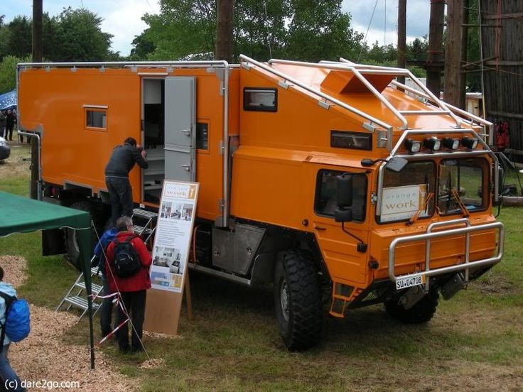 MAN Adventure Camper Well I want one, and totally bullet proof