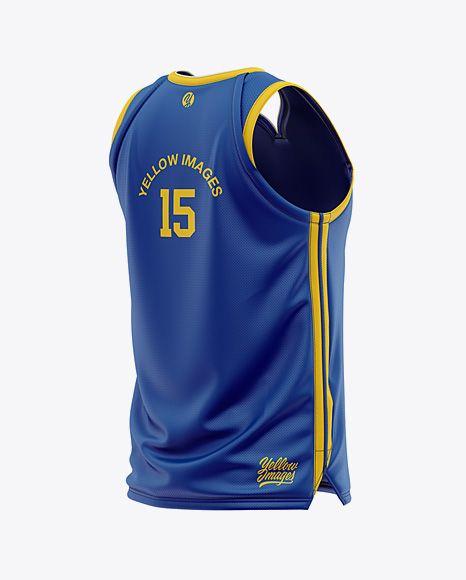 Download Free Mockups Men s Basketball Jersey Mockup - Back Half ...