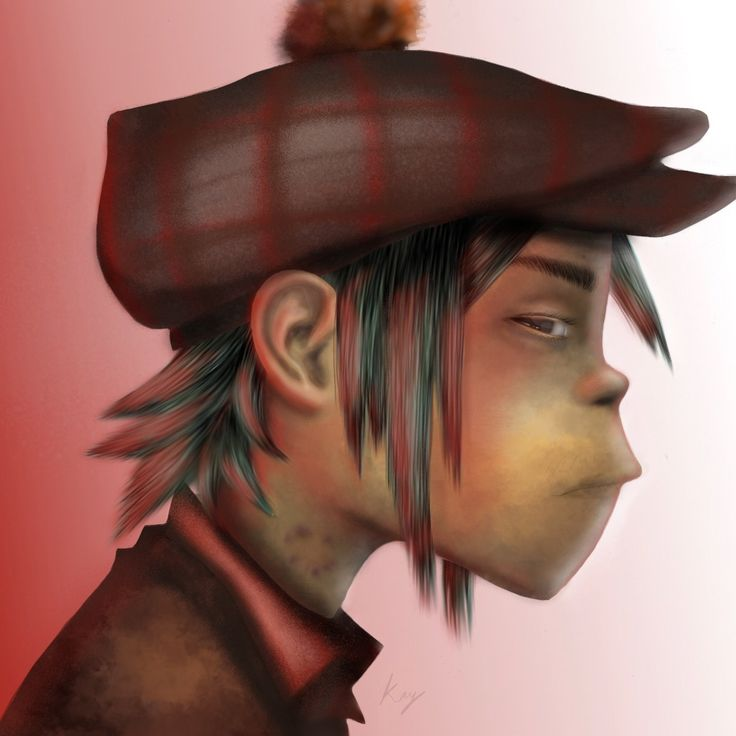 This is one of the first digital arts that I tried, aimed to be based off 2d in Demon Dayz from Gorillaz <3