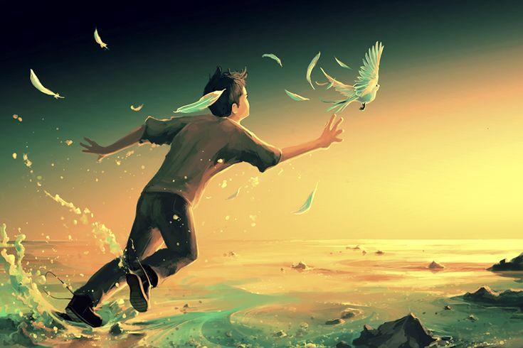 cool French Artist Creates Surreal Fantasy Universes Inspired By Hayao Miyazaki And Tim Burton