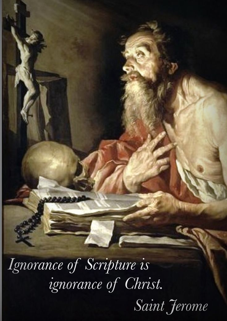 St. Jerome, Church Father and Doctor of the Church. Feast Day, September 30.