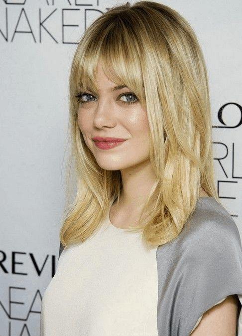 29 photos sublimes de cheveux mi-longs avec frange - Coupe de cheveux                                                                                                                                                                                 Plus