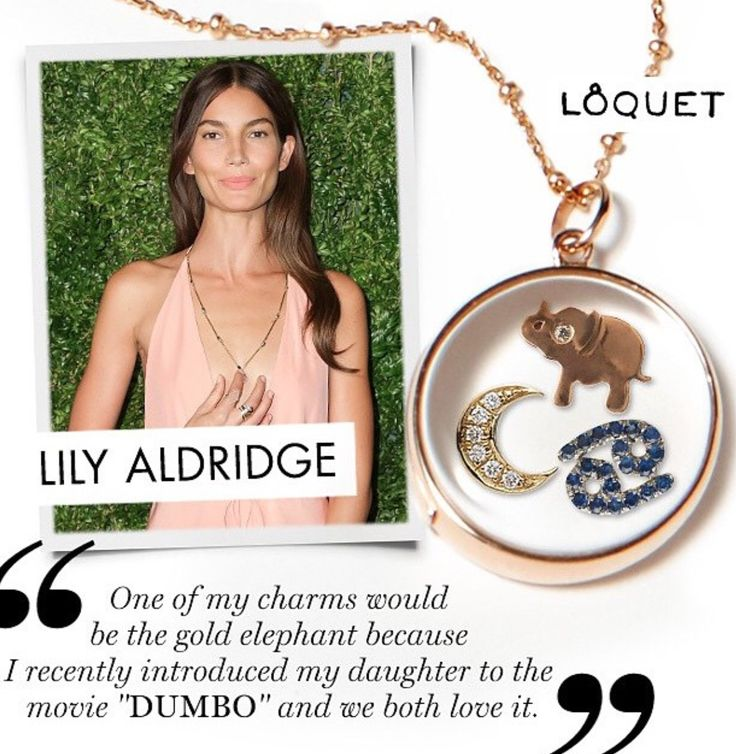 Lily Aldridge wears her unique LoquetLondon with charms from exclusive fall/winter 2015 Moda Operandi trunkshow moda.cm/loquetlondon