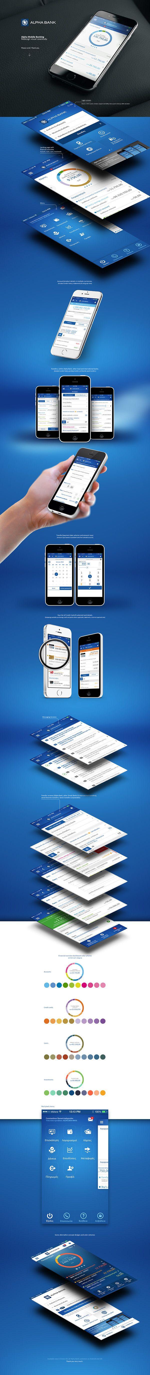 Alpha Mobile Banking. #MobileBanking #Banking #UI #UX #AlphaBank #App #Banking…