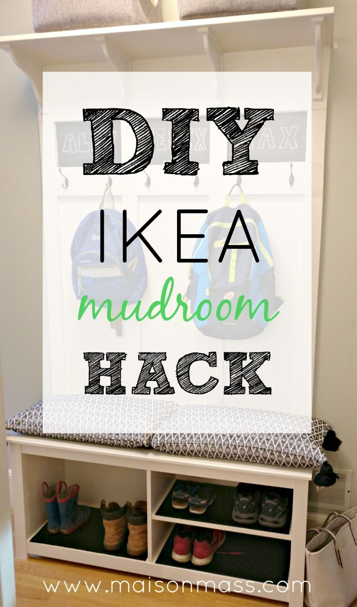 See how we did an IKEA mudroom hack for about $100 all in one weekend to create a drop-zone for back to school!